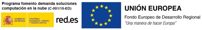Proyecto cofinanciado por el Ministerio de Energía, Turismo y Agenda Digital - Gobierno de España, red.es y la Unión Europea